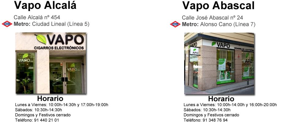 Cigarrillos electrónicos en Madrid