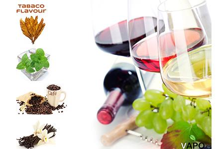 sabor del vino y de los e-líquidos